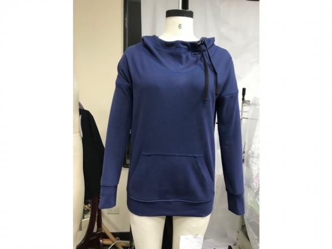 20-WH001F 帽T系列(女) 正-藍