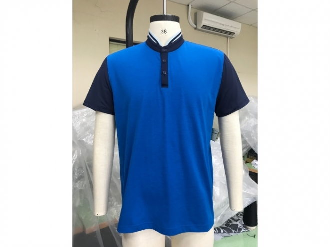 18-MX002F POLO衫系列(男) 正1- 藍